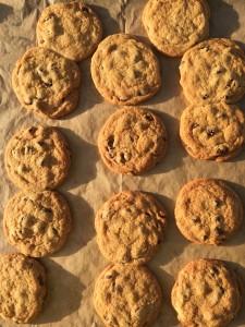 Dorothy Calimeris bakes chocolate chip cookies