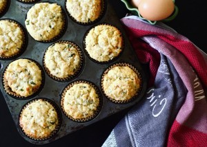 Ricotta Lemon Mint Muffin recipe by Dorothy Calimeris
