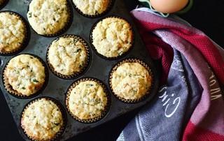 Ricotta Lemon Mint Muffin recipe by Dorothy Calimeris