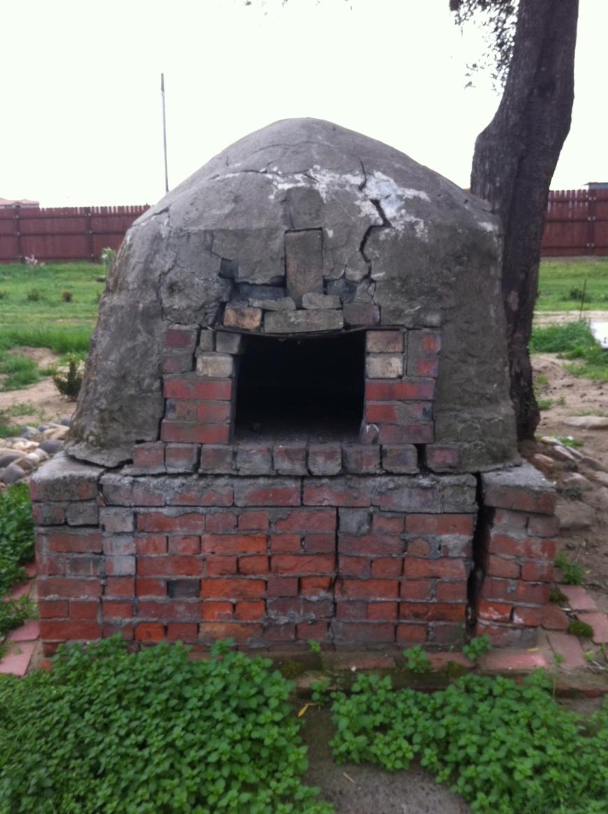brick oven at the family farm