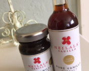 A jar of vanilla paste and bottle of vanilla extract from Heilala Vanilla.