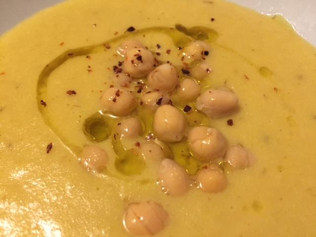 Turmeric garbanzo bean soup