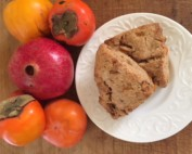 Image of persimmons and scones